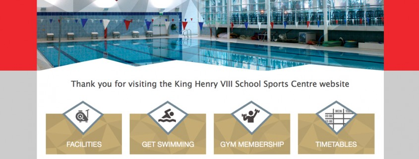 King Henry Sports Centre Coventry Website Screenshot